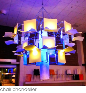 chair chandelier